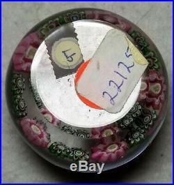 Antique Clichy Miniature Concentric Millefiori Paperweight