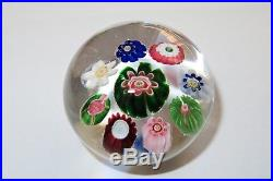 Antique Clichy Miniature Spaced with Clichy rose paperweight