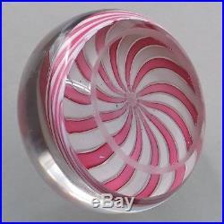 Antique Clichy Paperweight Pink/white Swirl