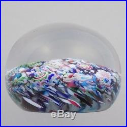 Antique Clichy Paperweight Scrambled with Rose Cane
