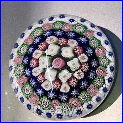Antique Clichy Paperweight with Circle of Roses