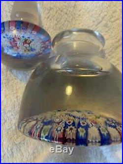 Antique English RICHARDSONS close packed millefiori inkwell dated 1848