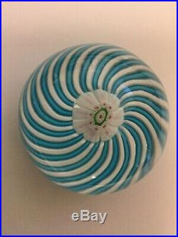 Antique French (Clockwise Spin) CLICHY SWIRL Glass Paperweight 2 1/8 Diameter