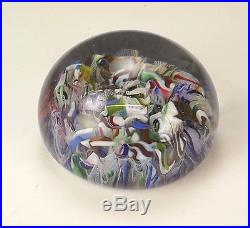 Antique French Glass 1847 Dated Scramble Paperweight Clichy or Baccarat