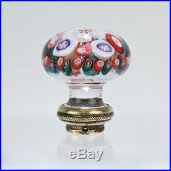 Antique French or Bohemain Millefiori Glass Paperweight Door Knob Handle GL
