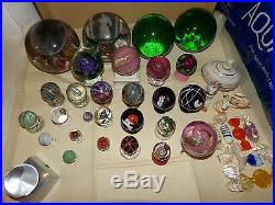 Antique Glass paperweights marbles and Misc items LOT