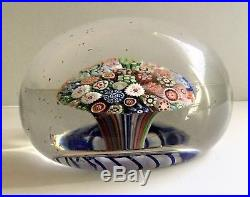 Antique. Hand-blown glass paperweight. Mid-19th Century by Baccarat
