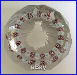 Antique. Hand-blown glass paperweight. Mid-19th Century by Saint Louis. Sulfide