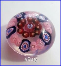 Antique. Hand-blown glass small paperweight. Baccarat paperweight. Mid-19th Cent