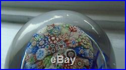 Antique LARGE BACCARAT CLOSE PACKED MUSHROOM millefiori paperweight