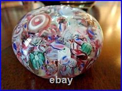 Antique NEGC Boston & Sandwich Art Glass SCRAMBLE Paperweight Millefiori End Day