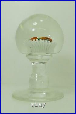 Antique New England Glass Company Pear Basket Pedestal Paperweight Latticinio