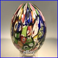 Antique Saint Louis Egg-shaped Art Glass Paperweight Millefiori Hand-cooler