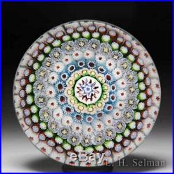 Antique Saint Louis close concentric millefiori glass paperweight