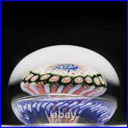 Antique Saint Louis close concentric millefiori mushroom glass paperweight