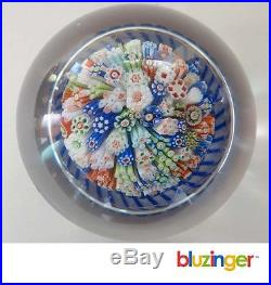 Antique St. Louis French Made Millefiori Mushroom Paperweight c. 1850