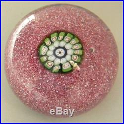 Antique St Louis Paperweight Single Cane on Jasper