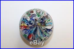Antique St Mande Scramble Paperweight With (rare Cane)