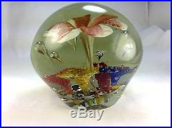 Antique Very Rare French X-large Magnum Multi Floral Glass Paperweight