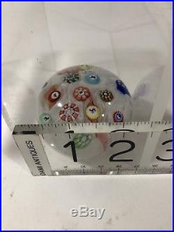 Antique baccarat millefiori upset muslin paperweight 1848 2.4Inches Diameter