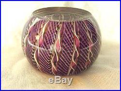 Art Glass BILL BURCHFIELD LTD ED Paperweight Cape Cod Latticino Ribbons