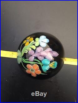 Art Glass Paperweight Orient & Flume Signed by Ed Alexander / Searria