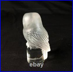 Authentic Rene R. Lalique Chouette Owl Paperweight RARE