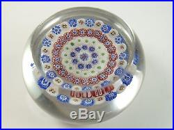 BACCARAT Crystal / Glass Antique French Paperweight / Presse-Papier
