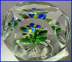 BEAUTIFUL DELMO TARSITANO Flower Art Glass Paperweight