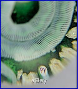 BEAUTIFUL Large PAUL YSART Glass Art SNAKE on Mossy Ground PAPERWEIGHT Studio