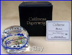 BOXED LIMITED WILLIAM MANSON CAITHNESS BLUEBIRDS GLASS PAPERWEIGHT