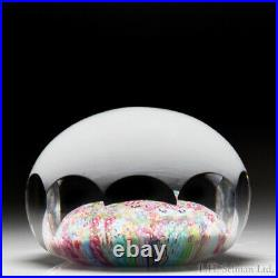Baccarat (1958) zodiac Church Weight close packed millefiori glass paperweight