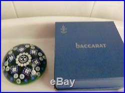 Baccarat 1976 Gridel Lovebirds Paperweight LE #176 EC