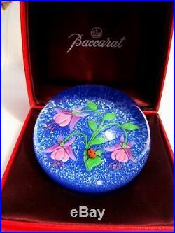 Baccarat, 1985 Fuchsie und Ladybird, Paperweight, Briefbeschwerer