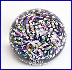 Baccarat Art Glass Multi-colored Candy Paperweight Beautiful Swirls & Twists