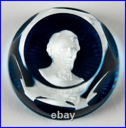 Baccarat Crystal Franklin Mint Great Leaders Cameo Paperweights Complete set 12