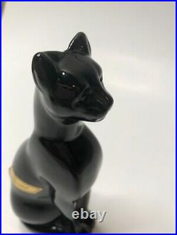 Baccarat France Crystal Signed Black Cat Egyptian Figurine Paperweight 6