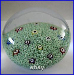 Baccarat French Crystal Glass Paperweight Millefiori Zodiac 1988 In Box Vintage