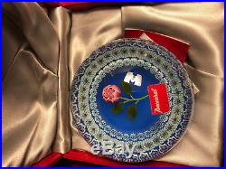 Baccarat IV/IV PEARLS ON BLUE FLOOR RARE EDITION ARTISTE! Paperweight