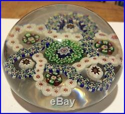 Baccarat Millefiori Interlaced Trefoil Garland Paperweight, Blue/Green/White/Red
