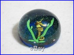 Baccarat Sea Horse Paperweight 1975 Limited Edition #117 of 260