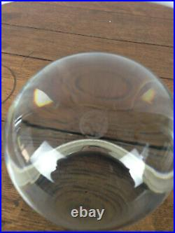 Baccarat Sirius Clear Crystal Ball Orb Sphere with Original Stand #WH-7