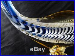 Beautiful Italian Art Glass Large Tropical Fish Statue Paperweight Gift Present