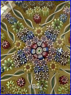 Beautiful Large P1977 Perthshire Millefiori Paperweight. VGC