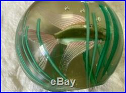 Beautiful Original Murano Fish Aquarium Art Glass Paperweight by Fratelli Toso
