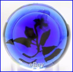 Beautiful PAUL STANKARD Experimental FLORAL & ROOTS Art Glass PAPERWEIGHT