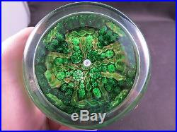 Beautiful Signed Art Glass Paperweight Millefiori 3.25 Who Did This