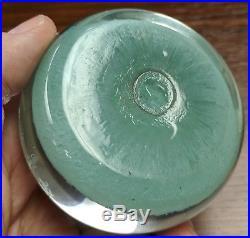 Beautiful Vintage Glass Paperweight 12 Spoke Millefiori Perthshire Scotland
