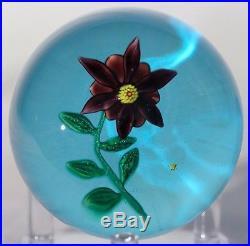 Beautiful and RARE Nontas KONTES Purple FLOWER Art Glass PAPERWEIGHT
