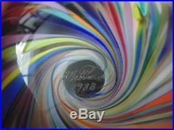 Big Large Mark Matthews 1988 Art Glass Multi-Color Onionskin Swirl Marble 2 1/2
